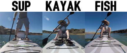 There are many uses for the Cypress paddle board: SUP, Kayak, Fishing