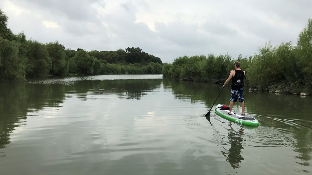 Paddle boarding and Kayaking on the San Antonio River at Padre park
