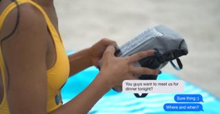 Gecko waterproof phone tote bag 2