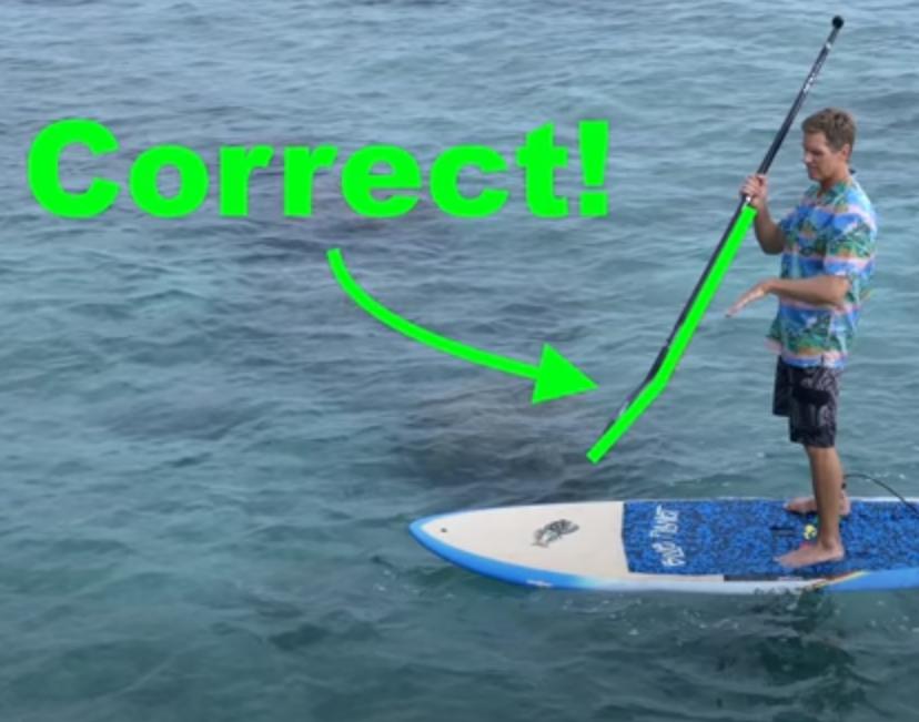 holding paddle correctly green